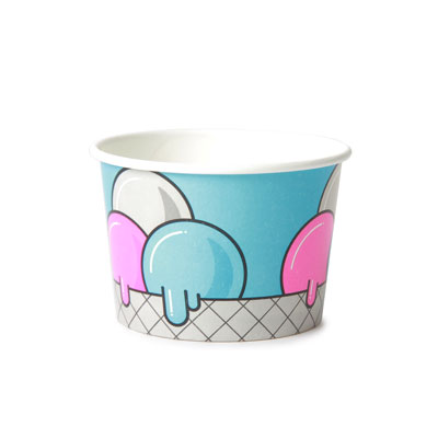 4oz Disposable Ice Cream Cup x 50 Pack