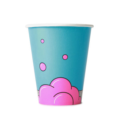 12oz Disposable Bubble Design Cold Drink Cup x 50 Pack