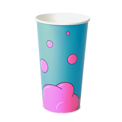 32oz Disposable Bubble Design Cold Drink Cup x 50 Pack