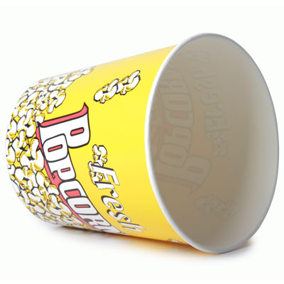 130oz Disposable Popcorn Tub x 35 Pack