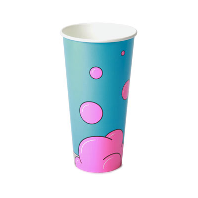 22oz Disposable Bubble Design Cold Drink Cup x 50 Pack