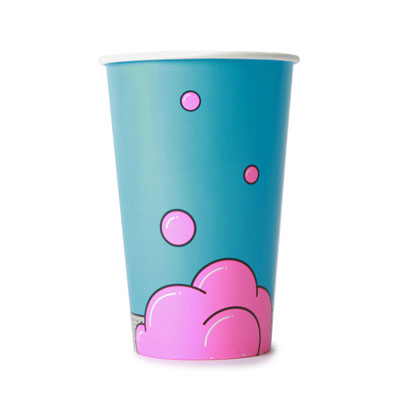 16oz Bubble Design Cold Drink Cup x 50 Pack