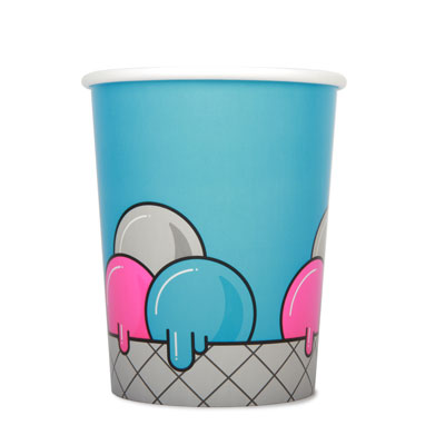 32oz Disposable Ice Cream Cup  x 50 Pack