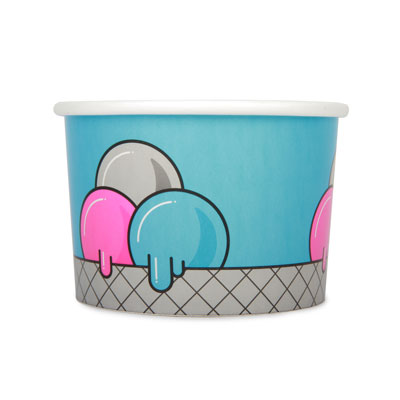 16oz Disposable Ice Cream Cup x 50 Pack
