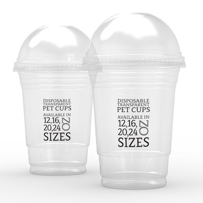 16-24oz PET Dome Lids x 1000 Case