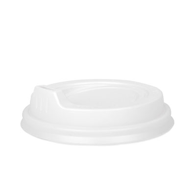 8 - 16oz White Sipper Lid  x 100 Pack