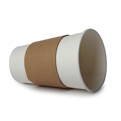 12 - 16oz Coffee Cup Sleeve x 100 Pack