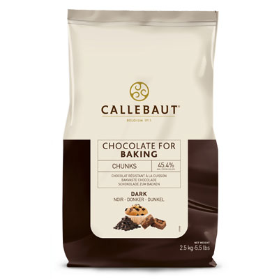 Callebaut Dark Bakestable Chocolate Chunks - 2.5kg