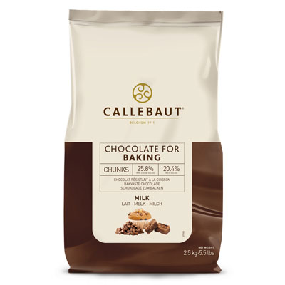 Callebaut Milk Bakestable Chocolate Chunks - 2.5Kg