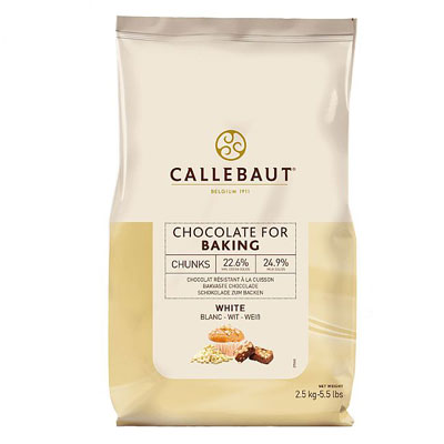 Callebaut White Bakestable Chocolate Chunks - 2.5kg