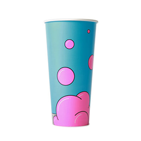 22oz Disposable Bubble Design Cold Drink Cup x 1000 Case