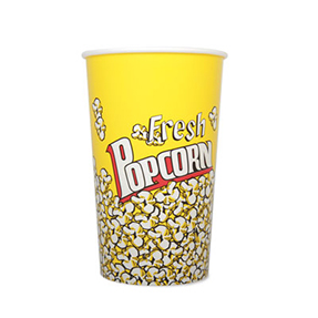 64oz Disposable Popcorn Tub x 360 Case