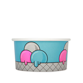 12oz Disposable Ice Cream Cup x  500 Case