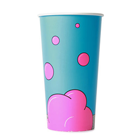 32oz Disposable Bubble Design Cold Drink Cup x 1000 Case