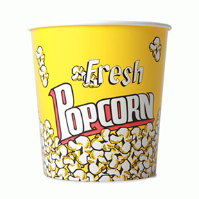 130oz Disposable Popcorn Tub x 210 Case