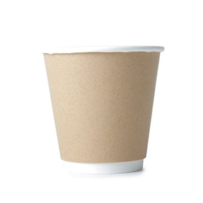8oz Disposable Kraft Double Wall Cup x 500 Case