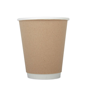 12oz Disposable Kraft Double Wall Cup x 500 Case