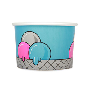 16oz Disposable Ice Cream Cup x 500 Pack