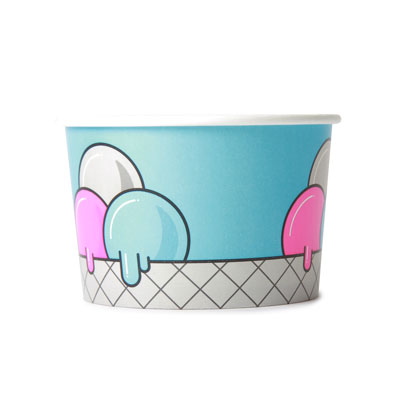 8oz Disposable Ice Cream Cup x 1000 Case