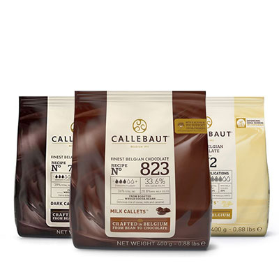 Callebaut - Milk, Dark & White 400g Chocolate