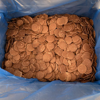 Sephra Milk Chocolate Compound Coating - 20Kg Case of Large Buttons