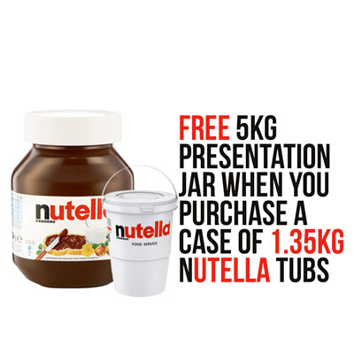 Nutella® Chocolate Spread 4 x 1.35kg Catering Tub