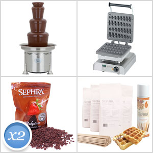 CF27R Chocolate Fountain & Long Waffle on a Stick Maker
