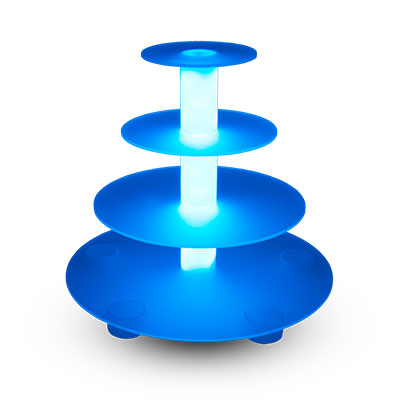 Illuminated Display Stand - 4 Tier