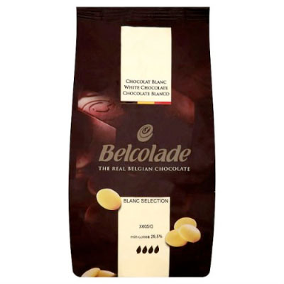 Belcolade X605/J 15Kg White Easimelt Belgian Chocolate