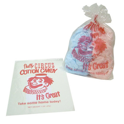 Candy Floss Bags x 1000 (Clown Print)
