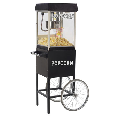 Gold Medal 2404MD - Black 4oz Popcorn Popper Including Cart