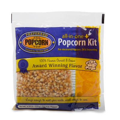Popcorn Kernel and Oil Kit for 4oz Popcorn Machine