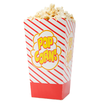 Open-Top Popcorn Boxes - 500 x 1oz