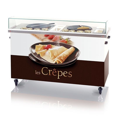 Krampouz Crêpe Cart with Removable Equipment