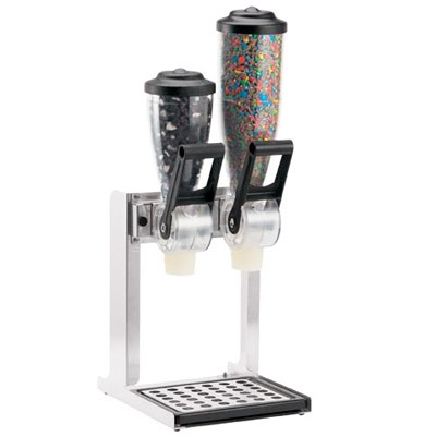 Double Countertop Dry Dispenser 2L
