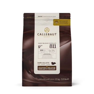 Callebaut Dark 54.5% Chocolate Callets - 2.5kg