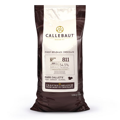 Callebaut Dark 54.5% Chocolate Callets - 10kg