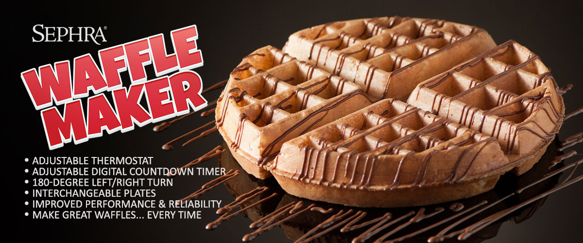 New Improved Sephra Waffle Maker